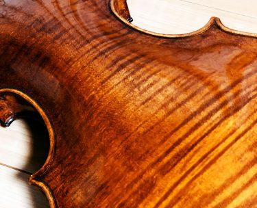 バイオリンの裏板の虎杢や一枚板か二枚板かは音色と関係ないのか