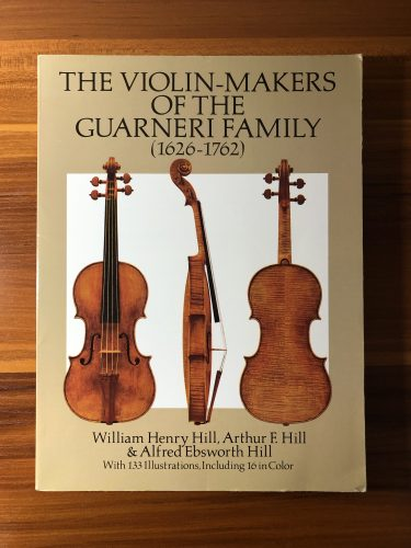 書籍紹介「The Violin-Makers of the GUARNERI FAMILY (1626-1762)」書評レビュー