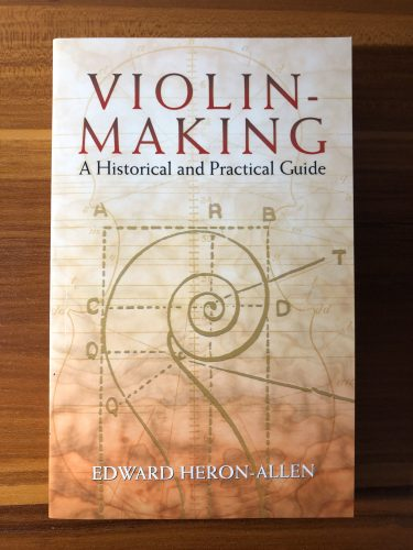 書籍紹介「VIOLIN MAKING A Historical and Practical Guide」書評レビュー